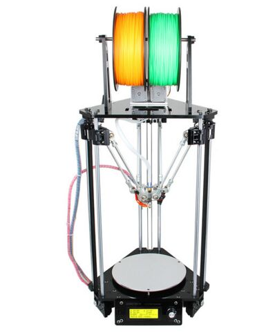 2016 Upgraded Dual Heads All Metal Delta Kossel Rostock Pro 3D Printer High Resolution Impressora LCD For Free(China (Mainland))