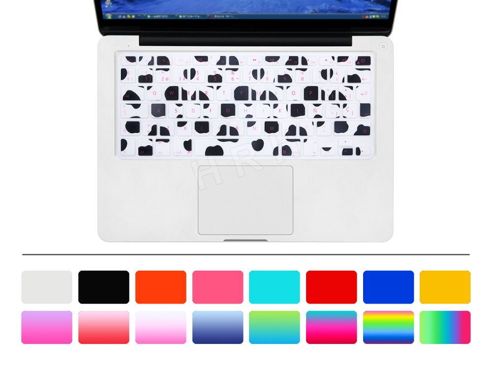 """50 X Animal Spanish Fonts Keyboard Cover Protector Silicone Skin for All MacBook Pro 13"""" 15"""" Retina for iMac & MacBook Air 13""""(China (Mainland))"""