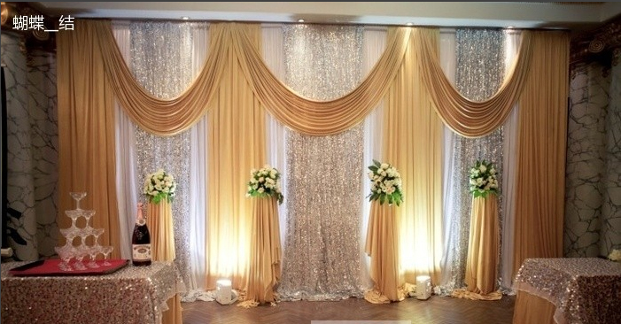 Gold stage curtains - Aliexpress Com
