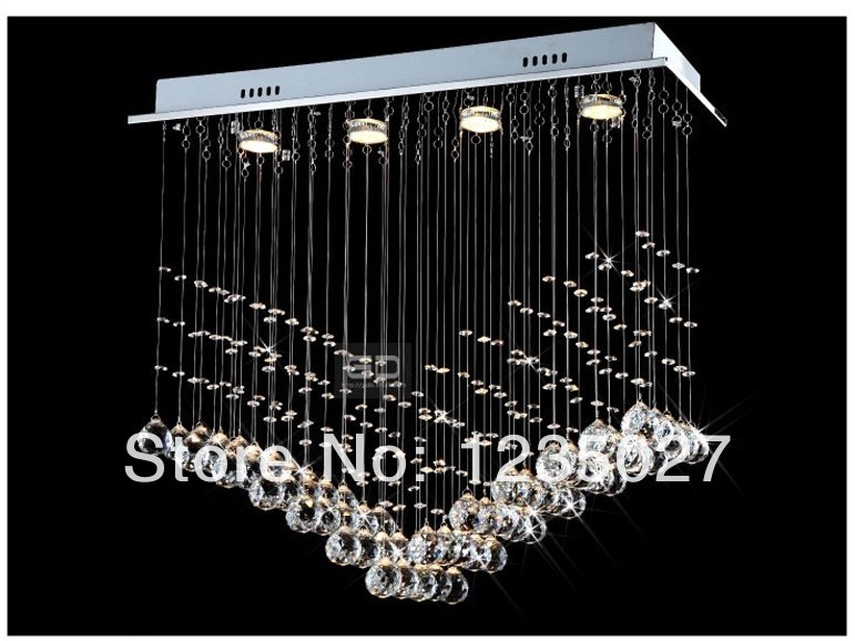 Most Popular Contemporary Crystal Dining Ceiling Lamp SY3044/4L L700*W250*H800mm crystal cutain wave chandelier light(China (Mainland))