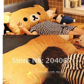 NEW san-x RILAKKUMA toys plush pillow for christmas cushion toys 95x65cm size  free shipping b190