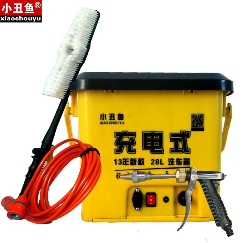220v charge electric washing device 12v portable car household high pressure car cleaning agent(China (Mainland))