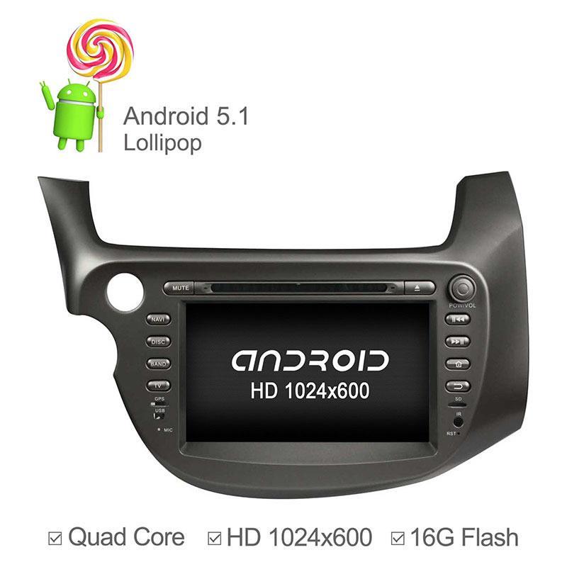 1024*600 Capacitive Screen Android 5.1.1 Quad Core Car DVD for Honda New Fit 2009-2011 GPS Navigation Radio RDS 16GB Nand Ipod(China (Mainland))