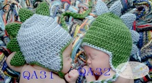 Free shipping,Handmade Light blue dinosaur Hat and Diaper Cover Set Newborn Baby Shower Gift and Photo Props(China (Mainland))