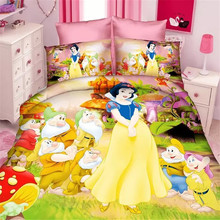 beautiful 3d fairy queen girls twin single size bedding set of 2/3pcs duvet cover bed sheet pillow case bed linen set