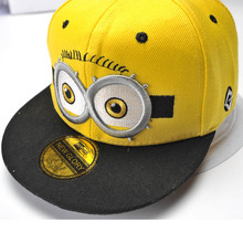 Minions Baseball Cap American Cap yellow Minion Snapback Caps Boy Girls snapback baseball cap Snapbacks kids boys(China (Mainland))