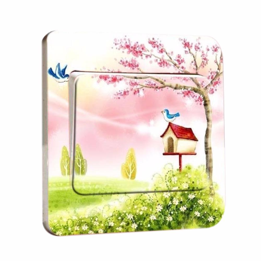 Free shipping 1pcs New Creative Home Furnishing Gift Stickers DIY Fashion Stickers / Mangrove Switch Sticker(China (Mainland))