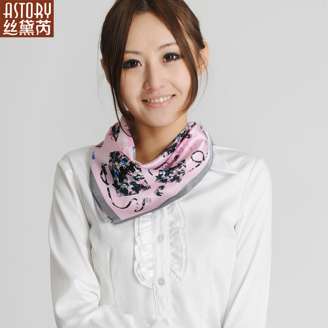 Astory wire 2013 spring thin pure silk small women's facecloth