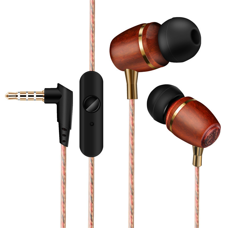NAOI In-ear Wooden Earphone Stereo Mp3 Music Auriculares Noise Cancelling Earbuds Best Natural Wood Headset With Microphone(China (Mainland))