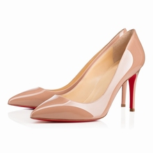 Lady Women Patent RED SOLE Leather fashion MID high heels POINTED corset WORK PUMPS COURT SHOES US 4-11 952-1RB(China (Mainland))
