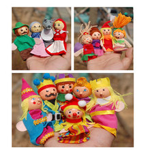 14pcs puppet Little red riding hood mermains king family gloves puppet for story telling kids children learning educational toys(China (Mainland))