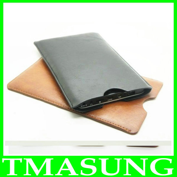 pu leather Case bag For huawei ascend p1 u9200 newman n1 4.3 inch android phone ,black brown color in stock(China (Mainland))