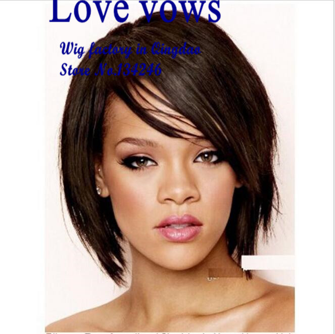 Short haircuts color Perruque afro  new haircuts for women Rihanna style de Perruques heat resistant synthetic full lace wigs<br><br>Aliexpress