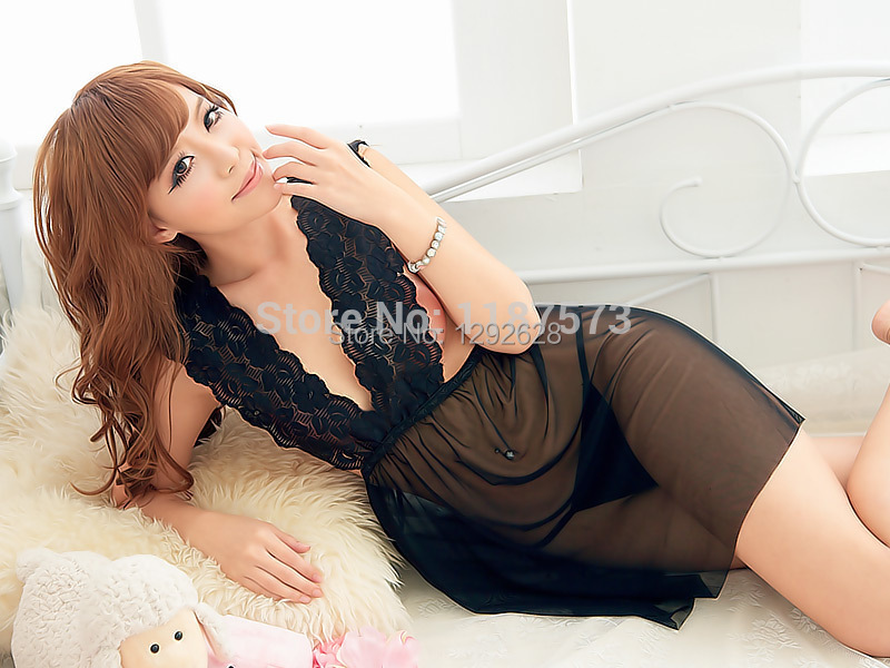 2015 new high quality Hot Mini girl Dress Sexy Club Wear Badydoll Sheer Night Gowns Maxi Clothing Set Prom Negligee Skirt Women(China (Mainland))
