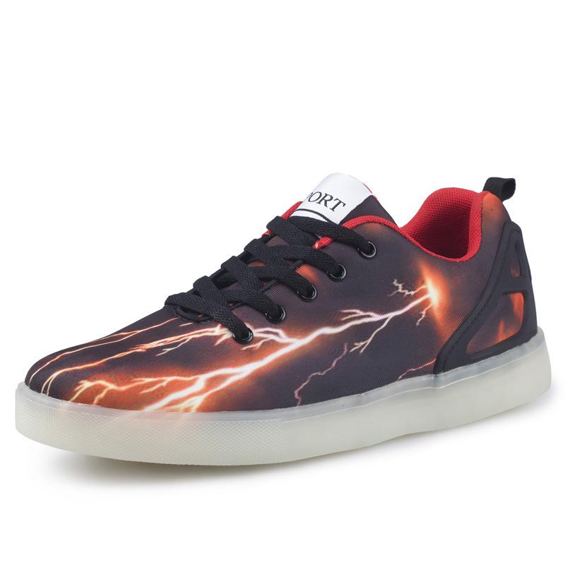Здесь можно купить  Fashion Leisure Men Sports Shoes led sneakers for adults USB Charging Colorful LED lights glowing Hombre Skateboarding Shoes  Спорт и развлечения