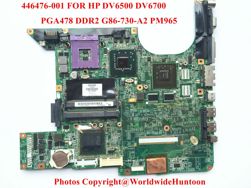Original laptop Motherboard for HP DV6000 965PM 446476-001 PGA478 DDR3 G86-730-A2 8400GS Fully tested(China (Mainland))
