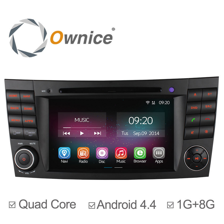 Ownice C200 4 Core Android 4.4 Car DVD Player For Mercedes Benz E Class W211 W209 W219 Wifi Radio Stereo GPS Navigation System(China (Mainland))