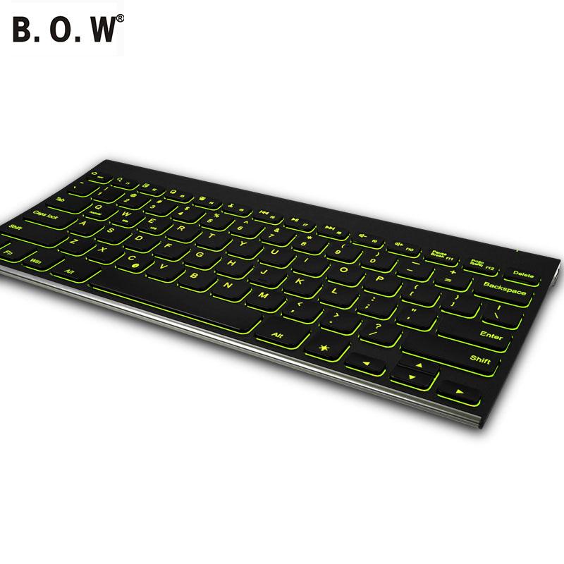 Backlight Wireless Bluetooth Keyboard Ergonomic Design Keyboard for iPad Laptop PC Windows Android Smart Phone(China (Mainland))