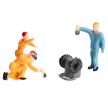 25Pcs Painted Workmen Model Train Workers Figures Workman Little People Model Building 1:87 Scale Toy Figures for Kids(China (Mainland))