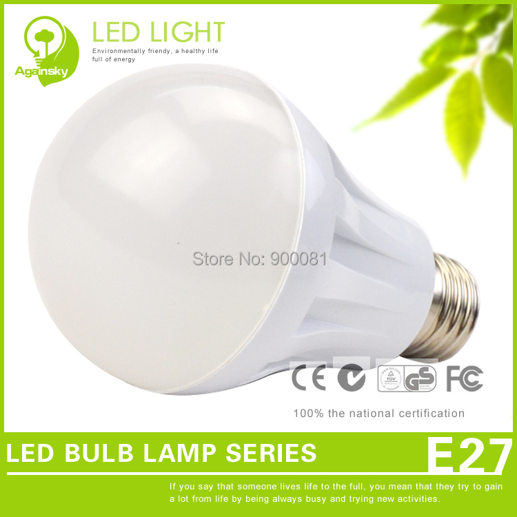 Free Shipping Popular LED Bulb Lighting 9W with International standard E27 base Residential LED Bulb Lampe AC 220 volt(China (Mainland))