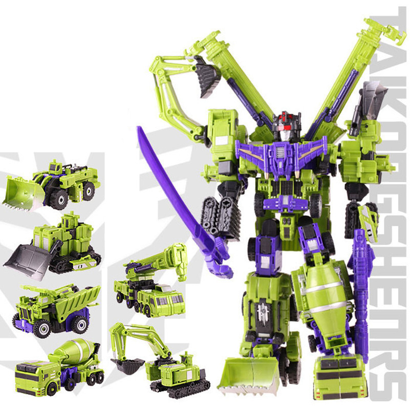 New Devastator Transformation Boys Toys Action Classic Figures Robot Model Constructions Anime Engineering vehicle Gift(China (Mainland))