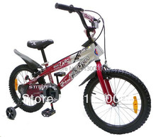 2014 newest QIWAWA 18 inch children bicycle kids bike contains auxiliary wheel 2 colors Free shipping(China (Mainland))
