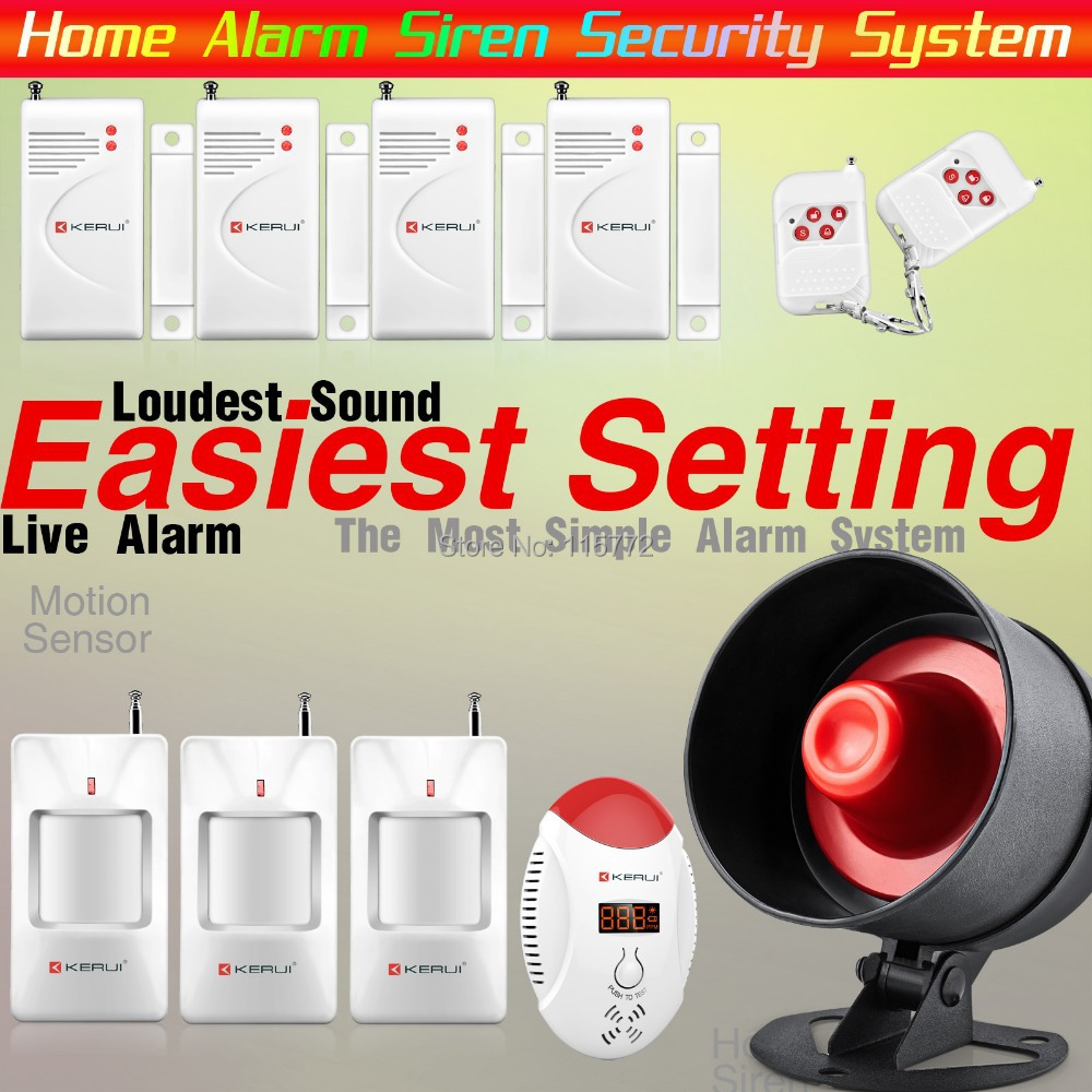 KERUI Wireless Home Alarm Siren System Security Alarm System For Home House Easiest Design Wireless Carbon Monoxide CO Detector<br>