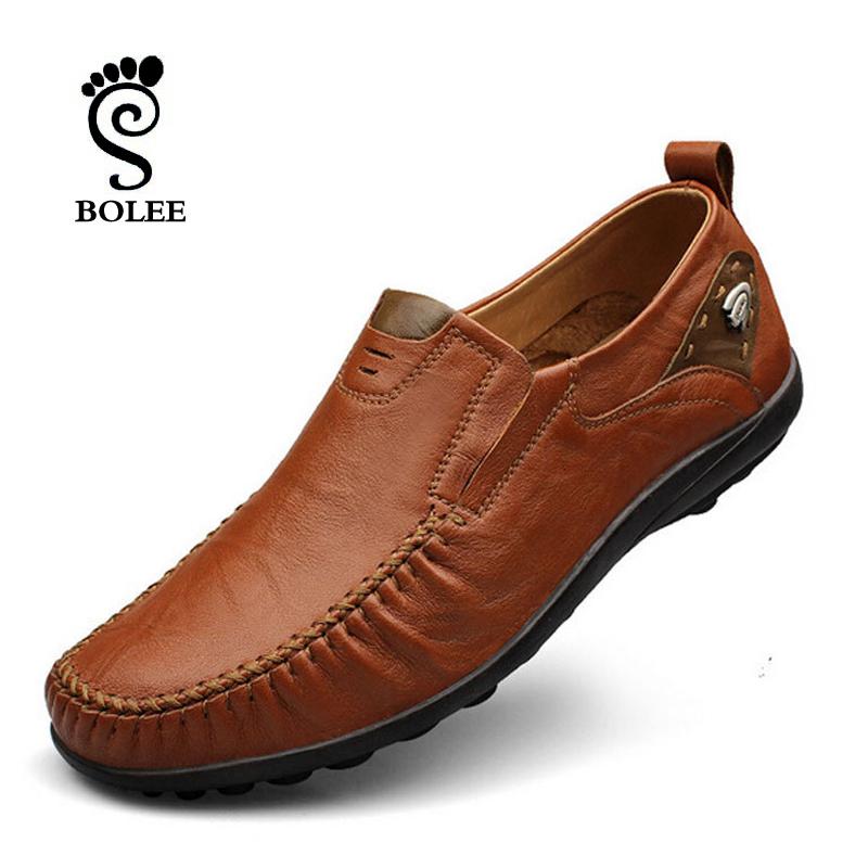 Гаджет  Top quality men flats 100% leather shoes handmade men Moccasins,men flat shoes plus size men loafers None Обувь