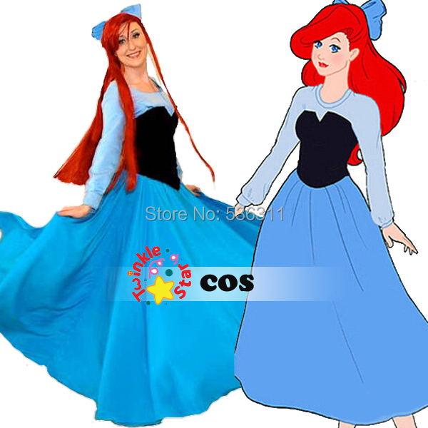 2014 sexy costumes for women Custom-made The little Mermaid Princess adult Ariel Dress Cosplay sexy Christmas dressОдежда и ак�е��уары<br><br><br>Aliexpress