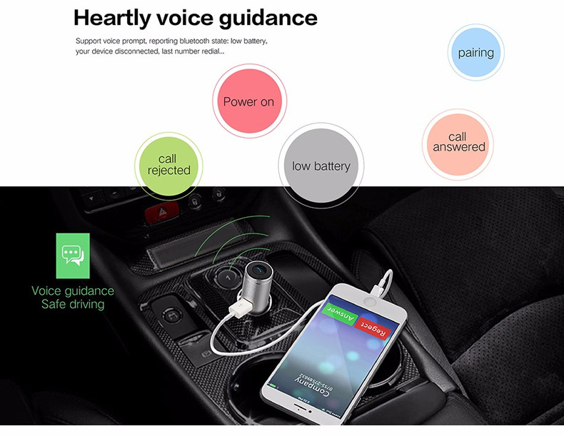 2016 2in1 Mini Bluetooth Headphones USB Car Charger Dock Wireless Car Headset Bluetooth Earphone for iPhone 7 6S Android
