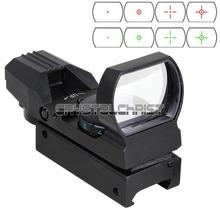 Holographic 4 Reticle Red/Green Dot Tactical Reflex Sight Scope W/Mount 33mm New free shipping