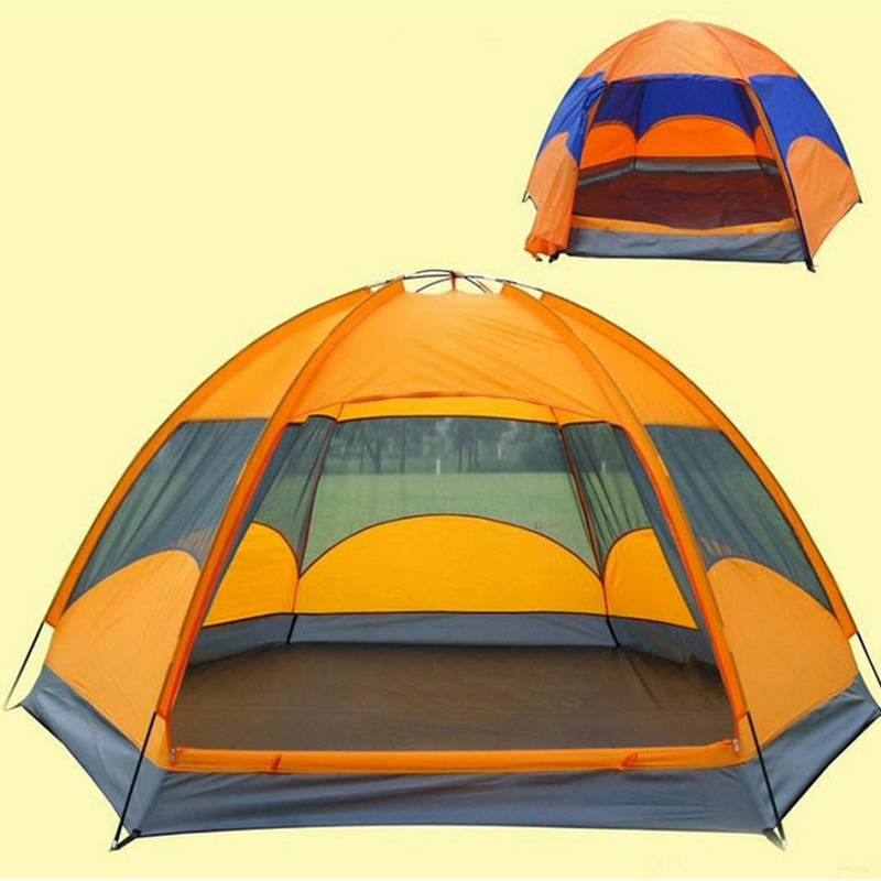 240*210*135cm Quality Mongolian yurt tent 3-4 person rainproof outdoor survival hiking hunting fishing tourist emergency tent(China (Mainland))