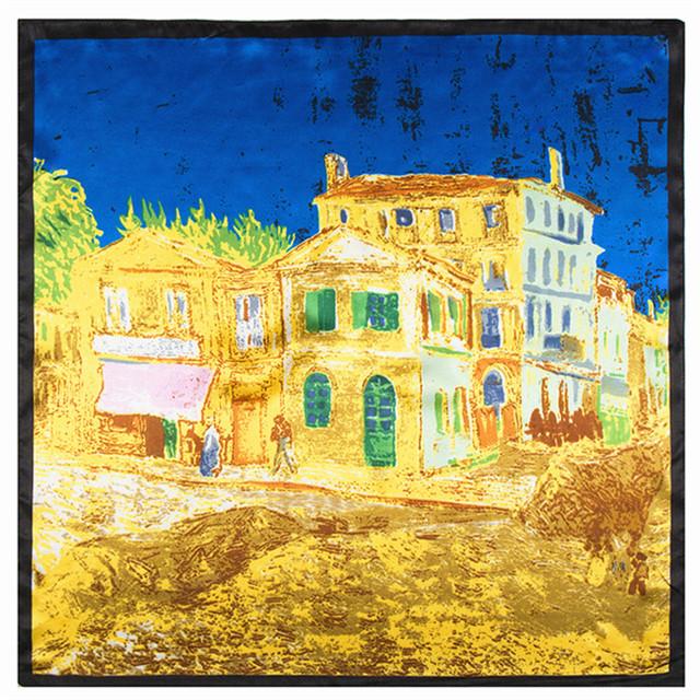 60 см * 60 см европа и строительные замки женщин роспись по классической живописи небольшой площади шарф оптовая продажа 60 см