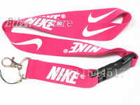 FREE SHIPPING Hot Pink NIKE Key Lanyard for id cards mobile neck strap keychains