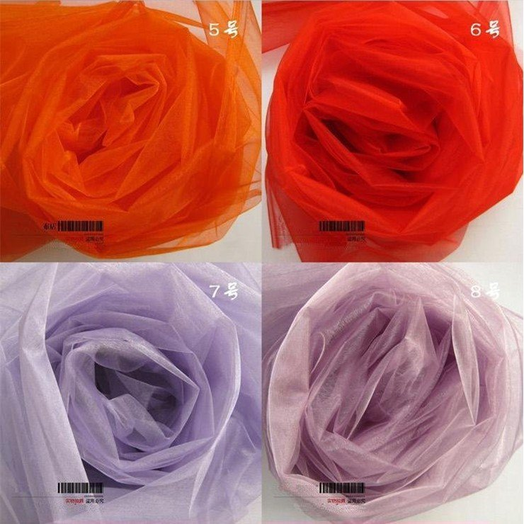 105metres/1roll.Organza with 24 colors.Breadth:150cm.Organza suit for Chair sashes. Wedding Birthday Celebration Party.etc(China (Mainland))