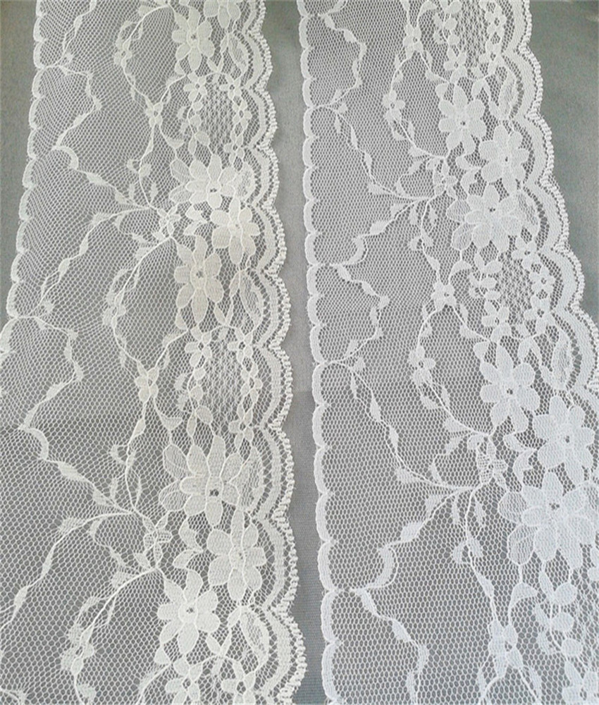 Width 95mm Beautiful 6 yards Embroidered Net Lace Trim Garment ribbon 2 colors headband wedding party