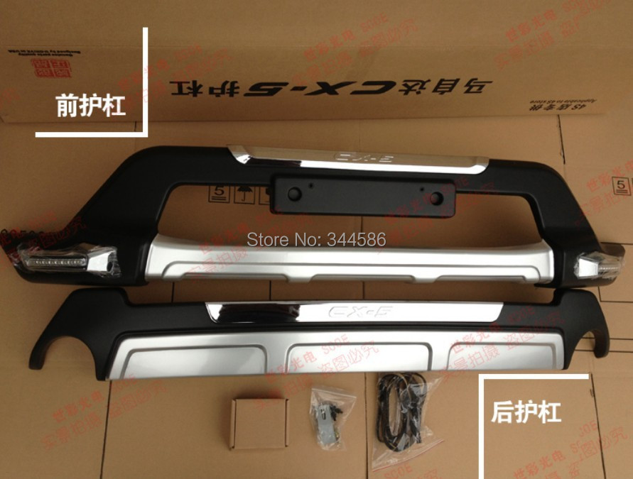 Front Amp Rear Trunk Bumper Plate Trim Protector For Mazda Cx 5 Cx5 2012 2014 With Chrome 2pcs Per
