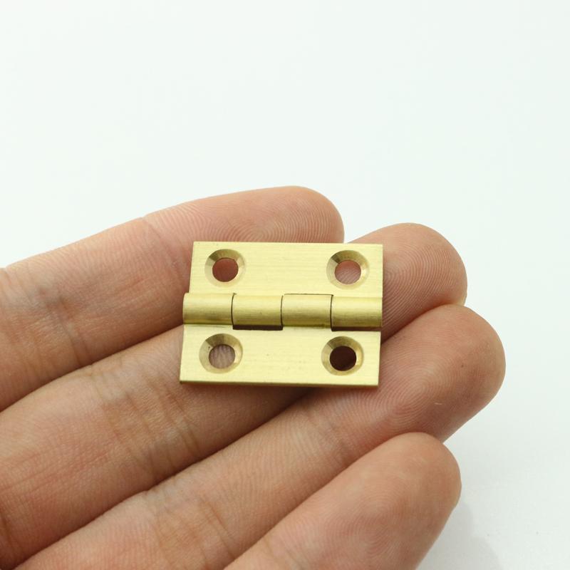 Pure Brass 1 inch Mini Cabinet Drawer Butt Hinge brass small hinge 4 small hole DIY hardware(China (Mainland))