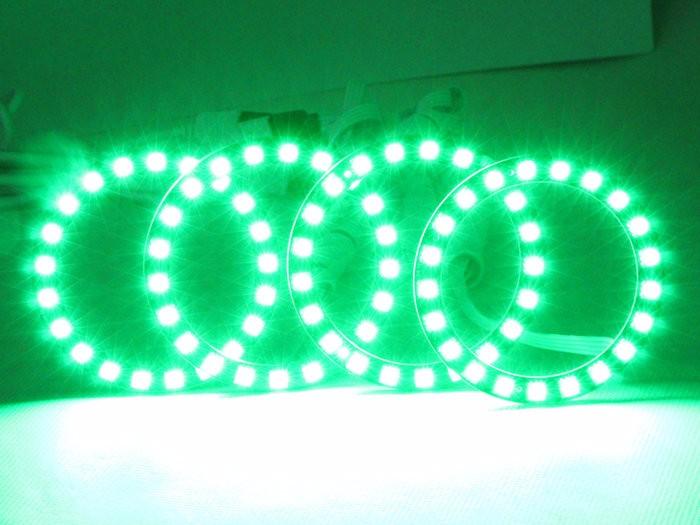 1Set RGB Led Angel Eyes Halo Rings Kit WIFI Wireless Remote Control For Bmw E46 2D E81 For Honda CRV 2003 2007 Fog Daylights
