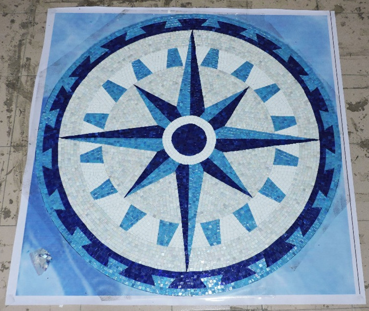 Popular mosaic medallion tile buy cheap mosaic medallion for Custom mosaic tile mural