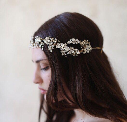 luxury crystal headbands wedding hair accessories bridal jewelry party rhinestone headpieces a265(China (Mainland))