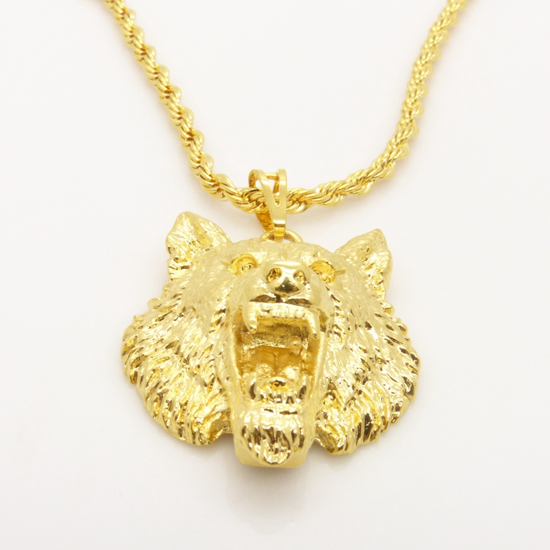 aliexpress buy wolf design solid 24k yellow