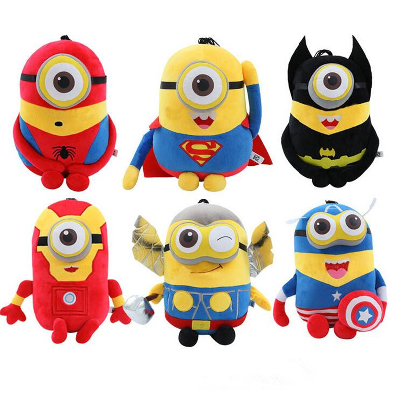 20cm Despicable Me Minions Plush Toys Minions Cosplay Marvel Avengers Superman Spiderman Batman Anime Plush Doll