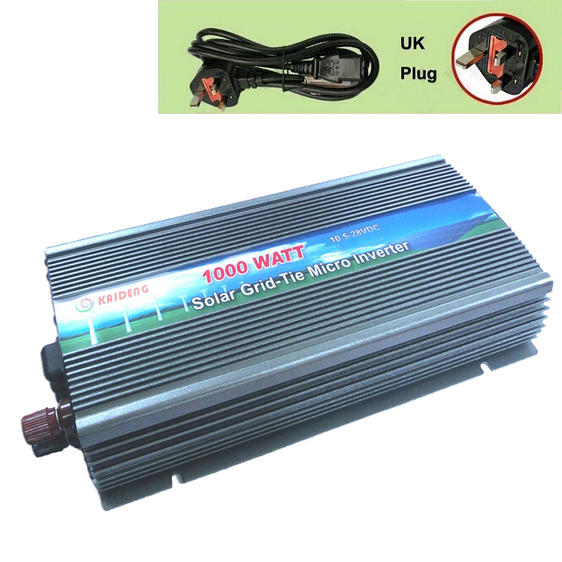 1000W Inverter Grid Tie Inverter Solar Inverter 1000 Watt 220V Pure Sine Wave Inverter UK Plug(China (Mainland))