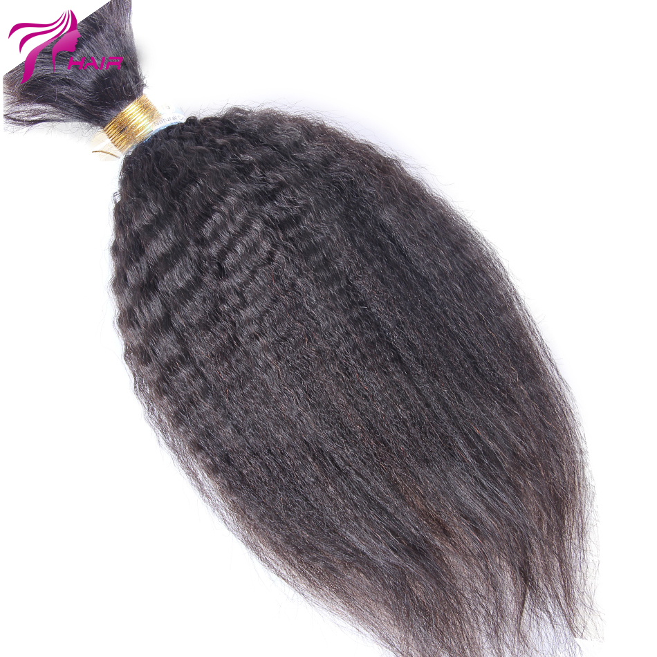 Best Mongolian Virgin Kinky Straight Human Hair Bulk For Braiding 1Pcs/Lot 100g Coarse Yaki Bulk Hair Extensions Unwefted Hair