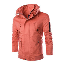 100 pcs/lot wholesale high quality stand collar cotton and polyester mixed 5 colors for choice short men coat jackets(China (Mainland))