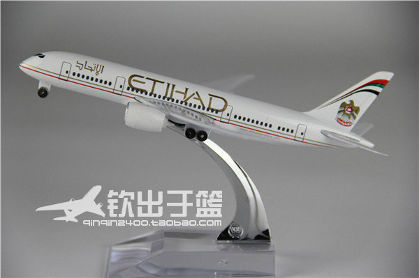 16cm 1:400 Alloy Air Etihad Airways Plane Model Boeing B787 Airlines Airplane Model Diecasts Toy(China (Mainland))