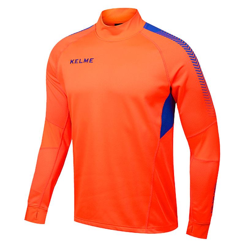 Kelme K089 Men Long Sleeve Thumb Buckle Training Light Board Team Sportswear Football Jersey Orange(China (Mainland))