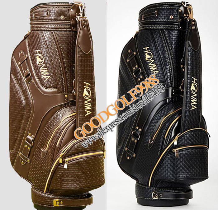HONMA Golf bags High quality PU Golf staff bag with brown/black color golf cart bag with bag cover golf equipment Free shipping<br><br>Aliexpress