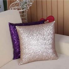 Hot Sale Fashion 2015 Luxurious Sequin Pillow Cover Zipper Pillow Case Home Throw Pillowcases 7Colors AY673634(China (Mainland))